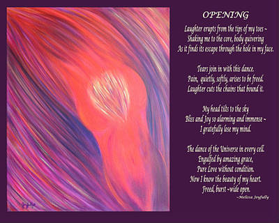 Painting - Opening With Poem by Melissa Joyfully