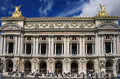 Ile Photograph - Opera Garnier. Paris. France by Bernard Jaubert
