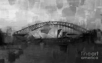 Sydney Harbour Painting - Opera House 01 by Gull G