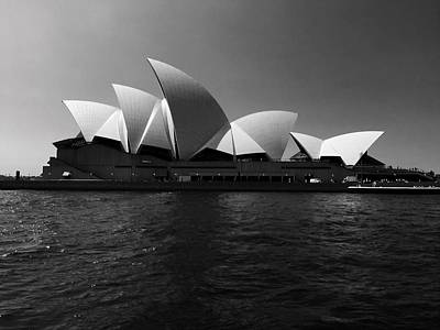 Abstract Shapes Janice Austin Royalty Free Images - Opera House black-and-white Royalty-Free Image by Mark J Dunn