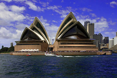 Photograph - Opera House From The Water by Miroslava Jurcik
