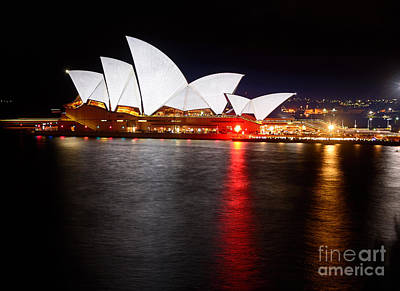Photograph - Opera House - Just White - Vivid Sydney By Kaye Menner by Kaye Menner