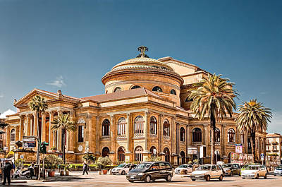 Photograph - Teatro Massimo Vittorio Emanuele by Maria Coulson