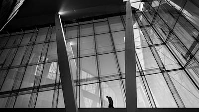 Opera House - Oslo, Norway - Black And White Street Photography Art Print