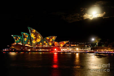 Photograph - Opera House - Underwater - Vivid Sydney By Kaye Menner by Kaye Menner