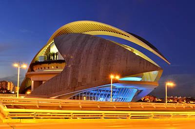 Photograph - Opera House Valencia Spain by Marek Stepan