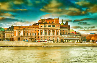 Stockholm Digital Art - Opera Of Stockholm  by Ramon Martinez