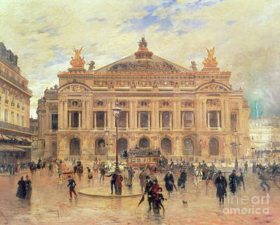 Nineteenth Century Painting - Opera, Paris by Frank Myers Boggs