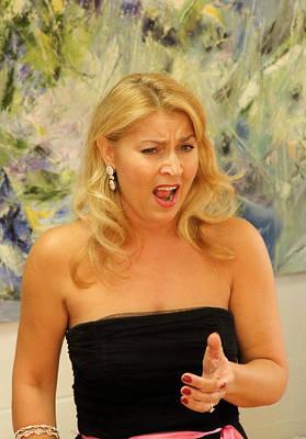Milena Photograph - Opera Singer Milena Kitic by Viktor Savchenko