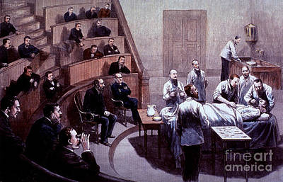 Photograph - Operating Amphitheater, Administering by Science Source