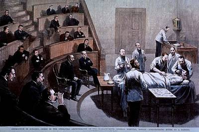 1880s Photograph - Operating Room Amphitheater by Everett