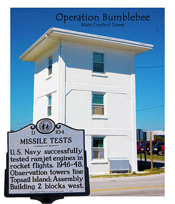 Sounds Digital Art - Operation Bumblebee Control Tower by Betsy Knapp