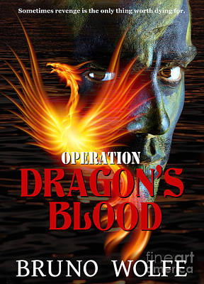 Book Jacket Design Photograph - Operation Dragon's Blood Book Cover by Mike Nellums