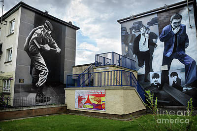 Operation Motorman Mural In Derry Art Print