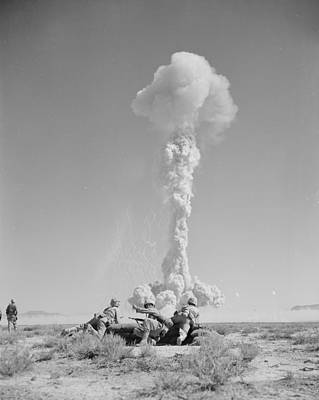 Attack Dog Photograph - Operation Tumbler-snapper Atom Bomb, 1952 by Us National Archives And Records Administration