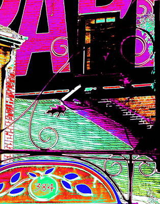 Photograph - O.p.f. Rooftop Graphic by Expressionistart studio Priscilla Batzell