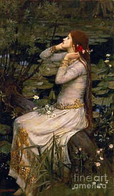 Seat Painting - Ophelia by John William Waterhouse