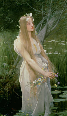 Pond Painting - Ophelia by Jules Joseph Lefebvre