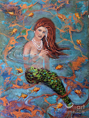 Painting - Ophelia by Linda Queally