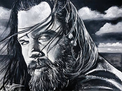 Sons Of Anarchy Painting - Opie by Tom Carlton