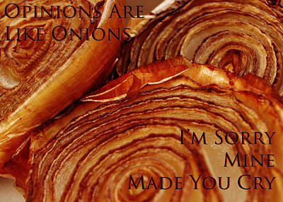 Photograph - Opinions Are Like Onions by Lori Kingston