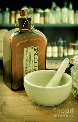 Photograph - Opium Bottle In Apothecary by Jill Battaglia