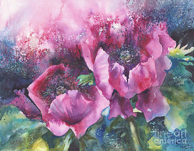 Opium Poppies Art Print by Kate Bedell