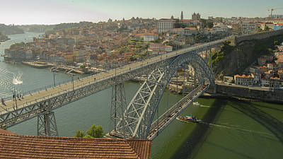Photograph - Oporto Riverside And Bridge by Alexandre Martins