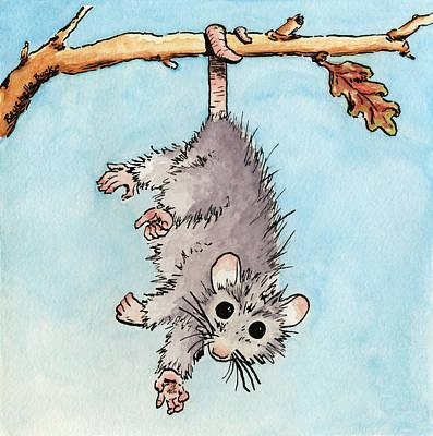 Painting - Opossum by Rauchelle Burke