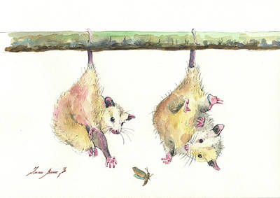 Painting - Opossums by Juan Bosco
