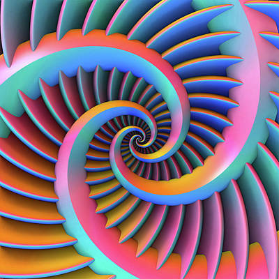 Digital Art - Opposing Spirals by Lyle Hatch