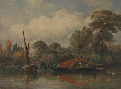 Painting - Opposite My House At Barnes by Edward William Cooke