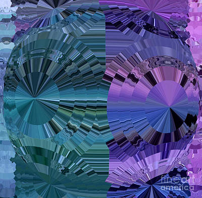 Kaleidoscope Digital Art - Opposites Attract by Krissy Katsimbras