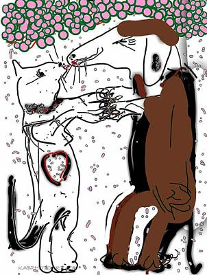 Opposites Attract Two Art Print