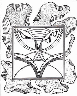 Dots And Lines Drawing - Opposites by Laurie Gibson