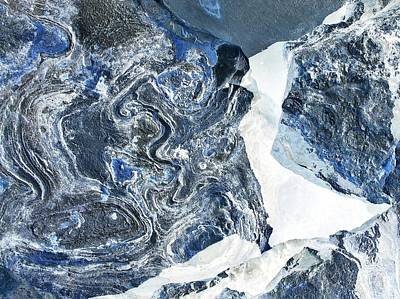 Photograph - Oppostracts 6 - Glacier by John Hintz