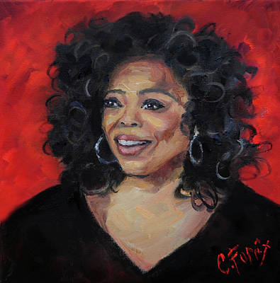 Painting - Oprah by Carole Foret