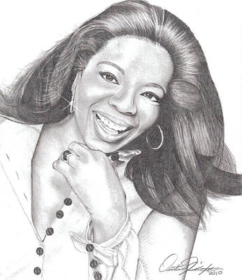 Drawing - Oprah by Dustin Knighton