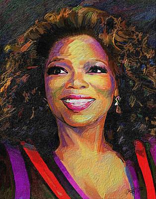 African-american Digital Art - Oprah by James  Mingo