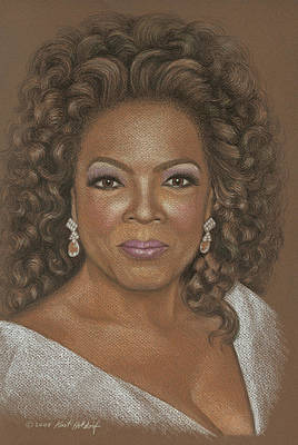 Oil Portrait Drawing - Oprah by Kurt Holdorf