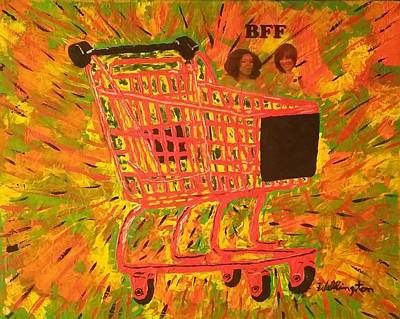 Good Housekeeping Painting - B F F - Oprah Winfrey And Gayle King by Wellington Caldwell