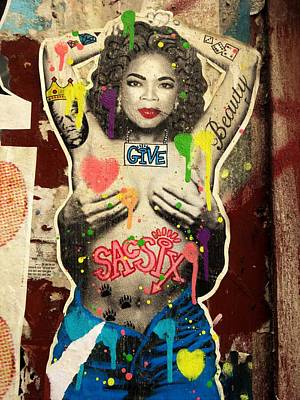 Photograph - Oprah Winfrey Graffiti In New York  by Funkpix Photo Hunter