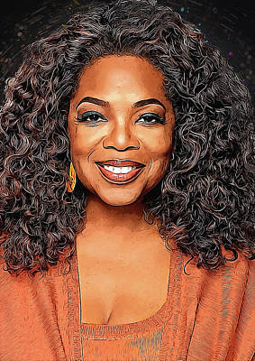 Communion Digital Art - Oprah Winfrey by Semih Yurdabak
