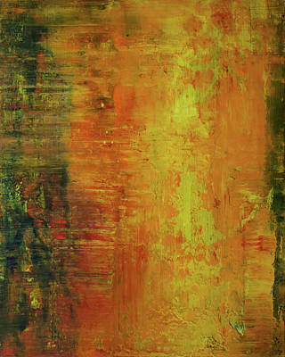 Abstract Expressionist Painting - Opt.5.17 Waiting For The Sun To Rise by Derek Kaplan