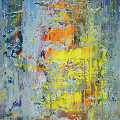 Abstract Expressionist Painting - Opt.66.16 A New Day by Derek Kaplan
