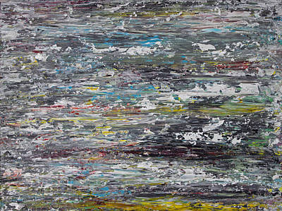 Abstract Expressionist Painting - Opt.67.15 No Room To Breathe by Derek Kaplan