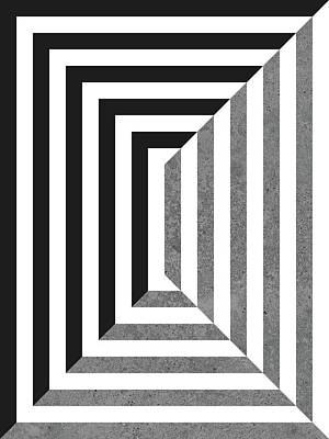 Optic Asymmetry Long Art Print by Daniel Perfeito
