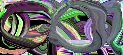 Digital Art - Optic Circles by Phillip Mossbarger