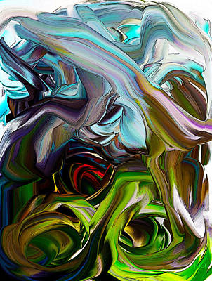 Digital Art - Optic Color 1 by Phillip Mossbarger