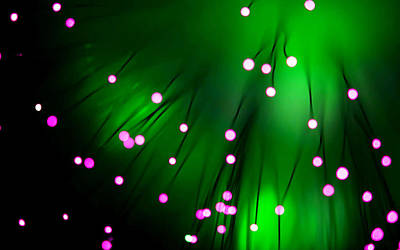 Fiber Painting - Optic Lights Background 4 by Lanjee Chee